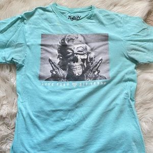Other - Blue marilyn monroe graphic tee
